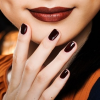 Hot make up trend-hot brown lips&nails