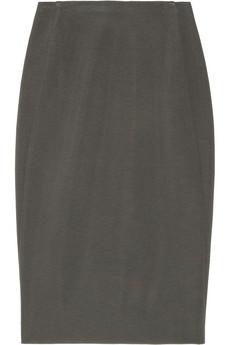 Donna Karan's dark-gray pencil skirt