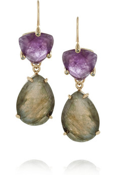 Isharya's Libra gold-plated, amethyst and labradorite earrings